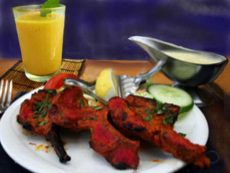 tandoori lamb and mango lassi