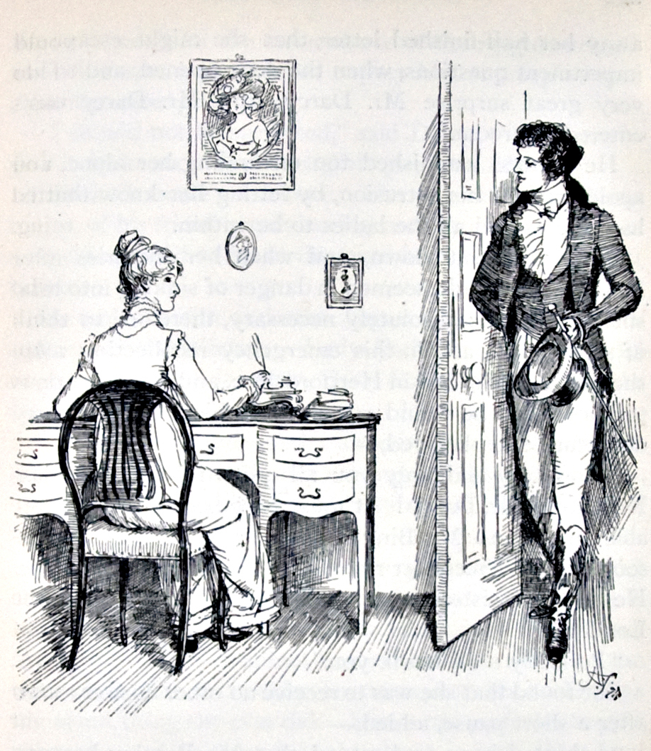 Mr. Darcy & Elizabeth by By Hugh Thomson (1860-1920) - Lilly Library, Indiana University, Public Domain, https://commons.wikimedia.org/w/index.php?curid=9473525